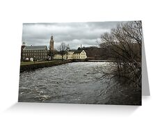 Slater Mill in Winter Greeting Card
