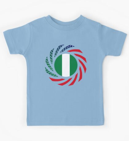 Nigerian American Multinational Patriot Flag Series Kids Tee