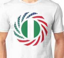 Nigerian American Multinational Patriot Flag Series Unisex T-Shirt
