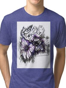 Flowers and Eye Tri-blend T-Shirt