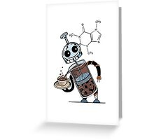 Coffee Bot Greeting Card