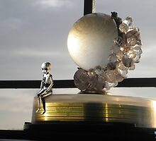 Mini Robot and Crystal Globe by Nandika-Dutt