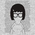 Tina - [Body w/Quotes] Bob's Burgers minimalist design by Hrern1313