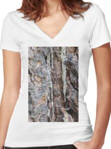 tree in the forest Women's Fitted V-Neck T-Shirt