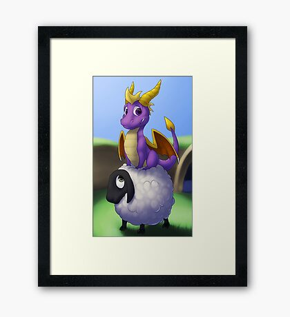Poor Sheep Framed Print