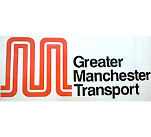 Greater Manchester Transport M logo Photographic Print