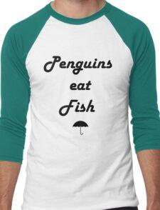 Penguins Eat Fish Men's Baseball ¾ T-Shirt