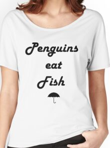 Penguins Eat Fish Women's Relaxed Fit T-Shirt
