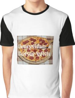 Everything's Better With Pizza Graphic T-Shirt