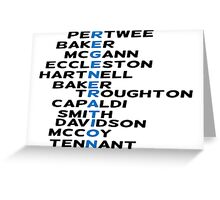 Doctor Who Regeneration Greeting Card