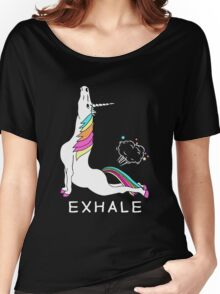 Unicorn Exhale Women's Relaxed Fit T-Shirt
