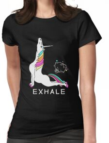 Unicorn Exhale Womens Fitted T-Shirt