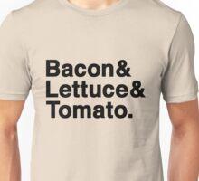 Bacon & Lettuce & Tomato  (black letters) Unisex T-Shirt