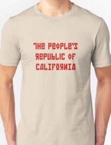 The People's Republic of California (red letters) T-Shirt