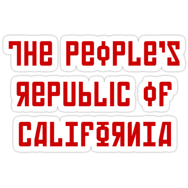 The People's Republic of California (red letters) by diculousdesigns