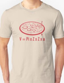 Pizza Equation : V = Pi x Z x Z x a T-Shirt