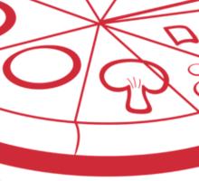 Pizza Equation : V = Pi x Z x Z x a Sticker