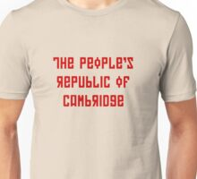 The People's Republic of Cambridge (red letters) Unisex T-Shirt