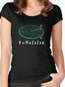 Pizza Equation : V = Pi x Z x Z x a Women's Fitted Scoop T-Shirt