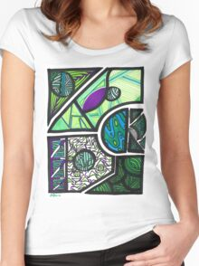 Abstraction 2 Women's Fitted Scoop T-Shirt