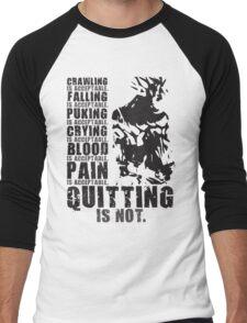 Quitting Is Not Acceptable (Ripped Saiyan Back) Men's Baseball ¾ T-Shirt