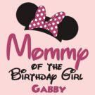Minnie ears Mommy of the birthday girl PERSONALIZED ~ ~ DO NOT PURCHASE THIS SAMPLE. SEE DESCRIPTION by sweetsisters