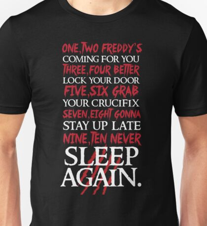 1, 2 Freddy's Coming For You... Unisex T-Shirt