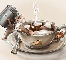 Pumpkin Spice Rats by nicolealesart