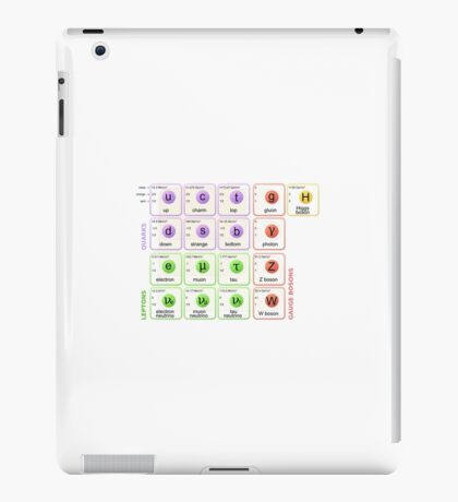 Standard Model of Elementary Particles iPad Case/Skin