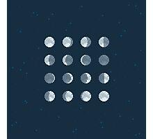 8Bit Moon Phases Photographic Print