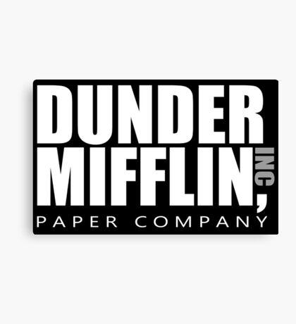 Dunder Mifflin - White Logo Canvas Print