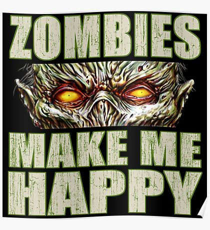 Zombie Happiness Poster