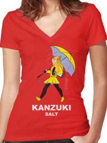 Kanzuki Salt Women's Fitted V-Neck T-Shirt