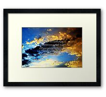 Skywards Framed Print