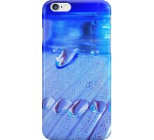 Blue Bottle/Water Drops iPhone Case/Skin