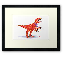 Surprise! It's a velociraptor! Framed Print