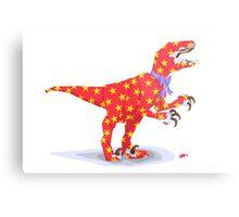 Surprise! It's a velociraptor! Metal Print