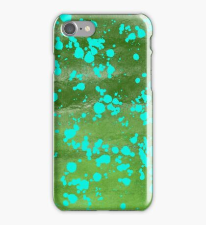 Green strokes and splatters  iPhone Case/Skin