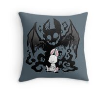 Beast Bunny Throw Pillow