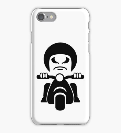 Bad Dude on a Scooter VRS2 iPhone Case/Skin