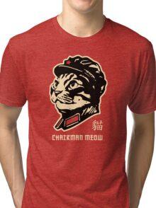Chairman Meow Communist Cat Tri-blend T-Shirt
