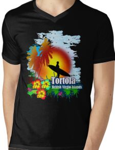 Sunset In Tortola Mens V-Neck T-Shirt