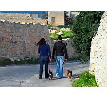 Taking the Dogs for a Walk Photographic Print