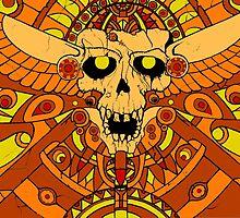 Aztec Skull by graphcraft