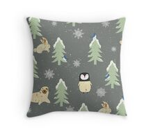 Winter Pattern Throw Pillow
