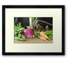 They searched for ingredients to make an apple pie, but their efforts proved fruitless Framed Print