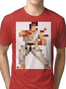 Ryu 8-bit Streetfighter Tri-blend T-Shirt