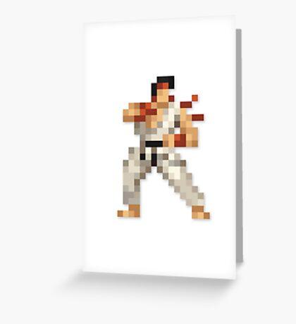 Ryu 8-bit Streetfighter Greeting Card
