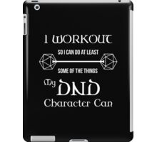 DnD Character Workout - in white iPad Case/Skin