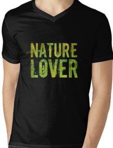 Nature Lover Mens V-Neck T-Shirt
